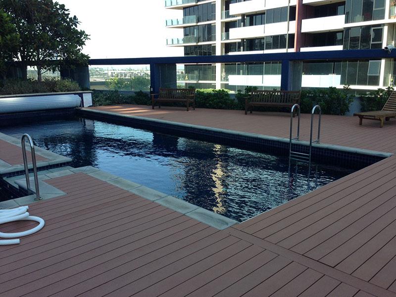 Pool decking timberlast for Timber decking around pools