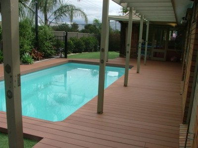 Recycled Eco Friendly Fake Maintenance Free Decking Boards